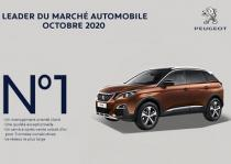 Octobre 2020 : Peugeot leader du marché automobile
