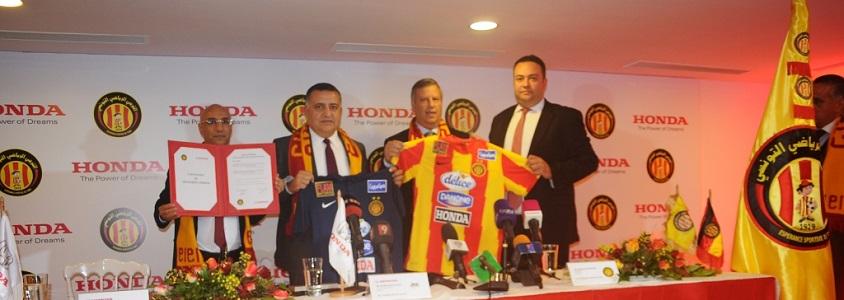HONDA, sponsor de l'Espérance Sportive de Tunis :