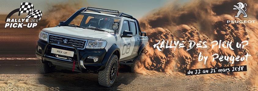 Les Clients Peugeot font le Rallye à bord de leurs PICK UP !